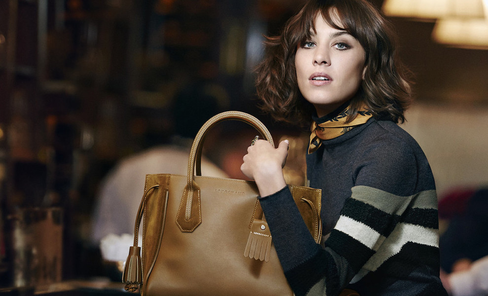 Alexa Chung es la it girl preferida de Longchamp